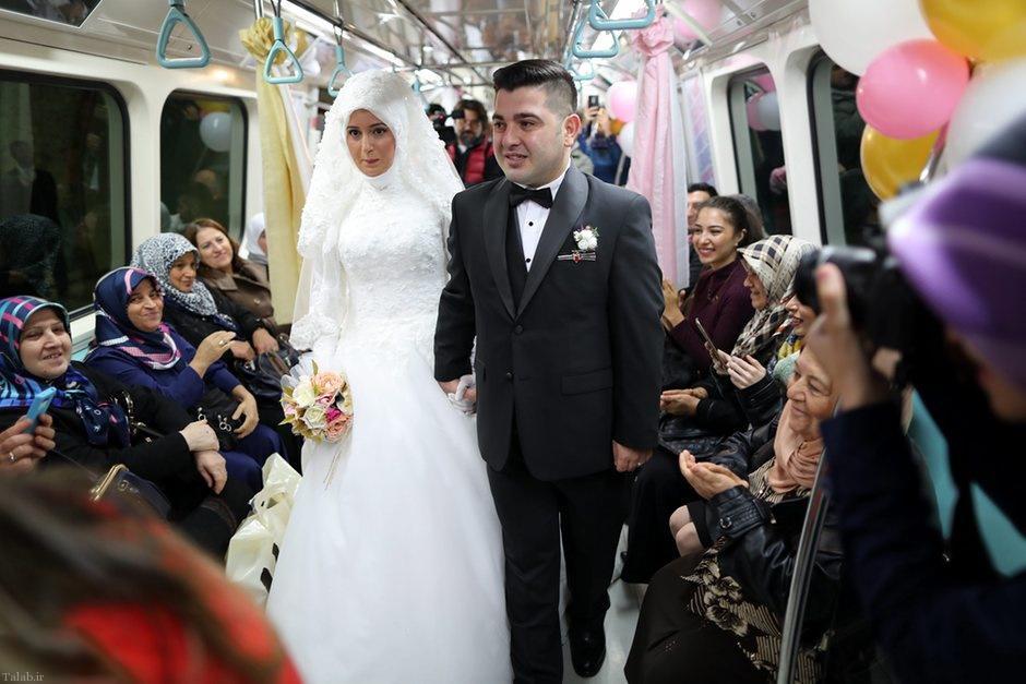تصاویری از سالن عروسی در ایستگاههای مترو