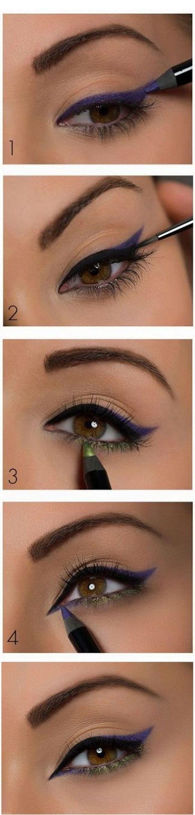 زیباترین خط چشم به همراه آموزش (+عکس)