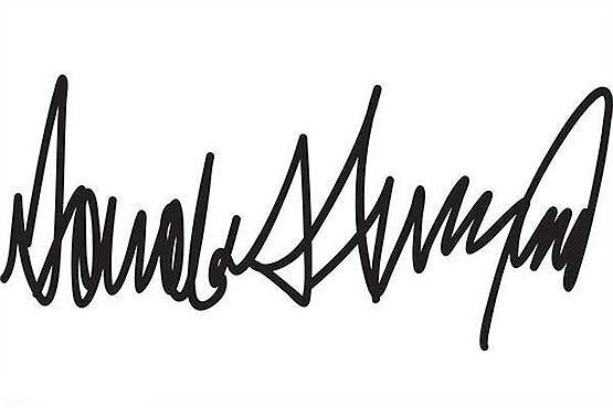 امضاء جالب از دونالد ترامپ (+عکس)