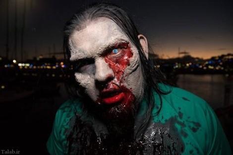 تصاویر فستیوال ترسناک زامبی ها در کالیفرنیا آمریکا