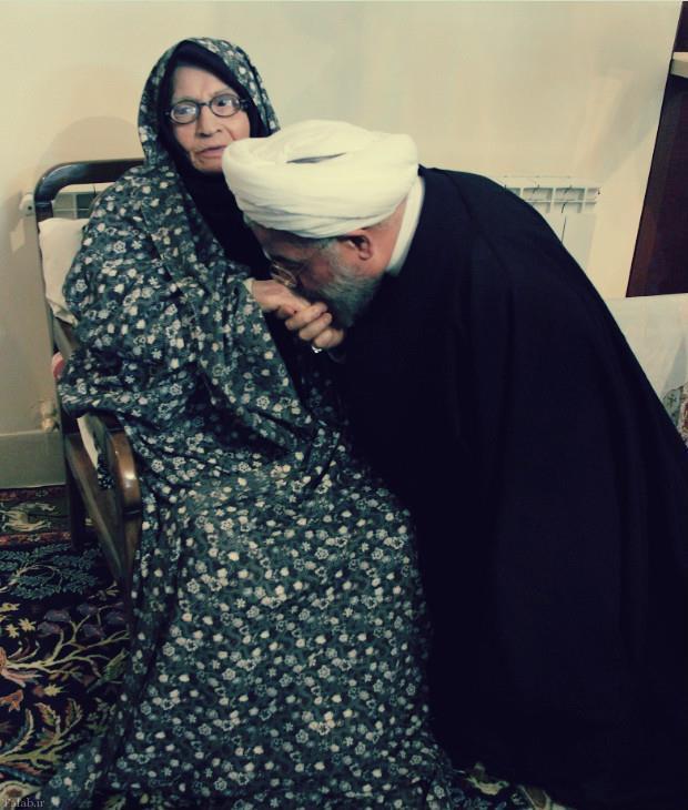 صحبت های زیبای مادر دکتر حسن روحانی