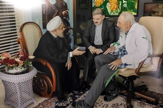 دیدار و گفتگو روحانی با فیدل کاسترو در گذشته (عکس)