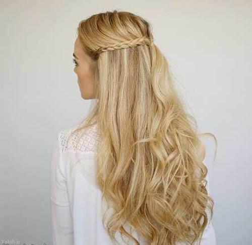 مدل موی جدید زنانه بلند و بافته شده