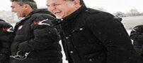 برف بازی و شادی علی دایی و عابدزاده (عکس)