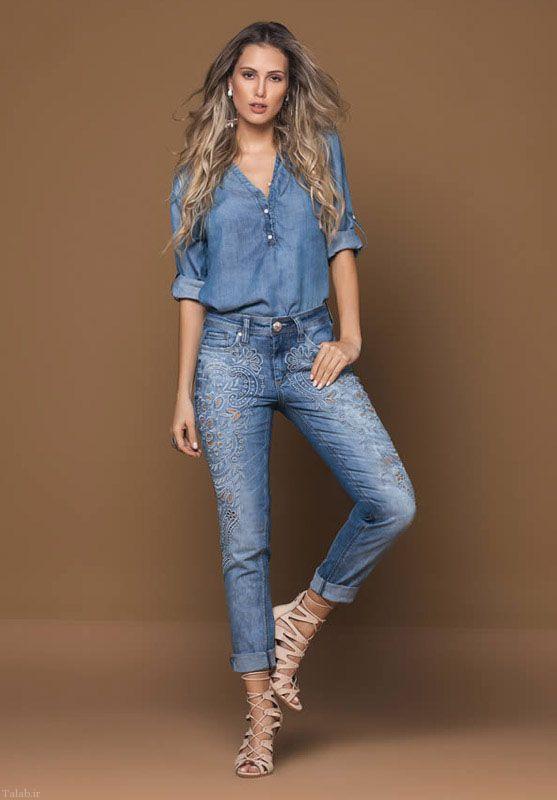 مدل های شیک لباس جین زنانه