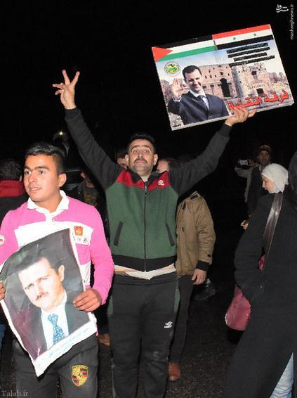 پایکوبی مردم حلب پس از آزادی این شهر + تصاویر
