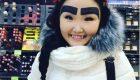 مشهور شدن دختر قرقیزستانی با ابروهای عجیبش !+ عکس