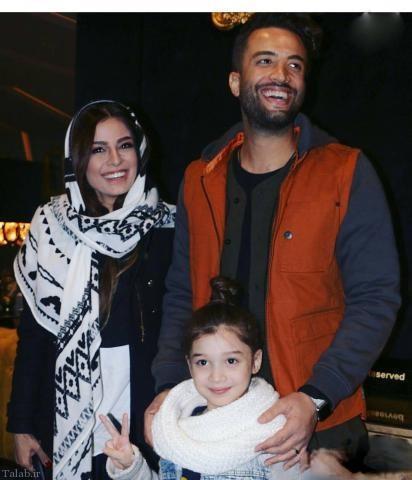 عکس های بنیامین بهادری و همسرش شایلی در کنار دخترش