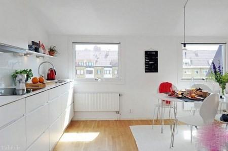 چیدمان زیبای آشپزخانه به سبک اسکاندیناوی