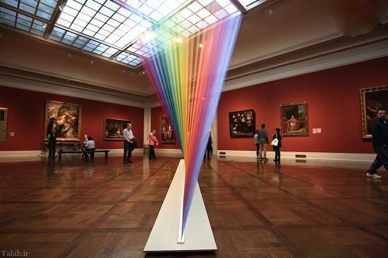 رنگین کمان شگفت انگیز در موزه تولدو فرانسه (عکس)