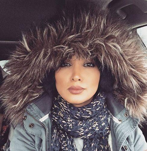 تصویر روناک یوسفی در سرمای شدید کانادا