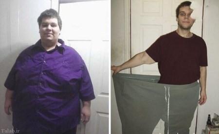 تصاویری دیدنی از اراده آهنین افراد در کاهش وزن