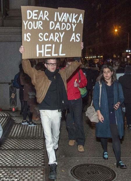 جنجال خنده های دختر ترامپ به اعتراضات مردم آمریکا