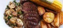 طرز تهیه استیک گوشت شتر مرغ با سیر و جعفری