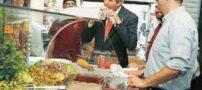 ساندویچ خوردن وزیر خارجه آمریکا در فلسطین !+ عکس