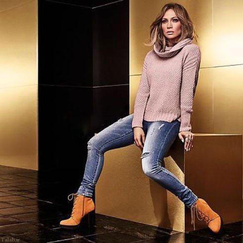 شلوار جین پاییزی،سبک جنیفر لوپز (+عکس)