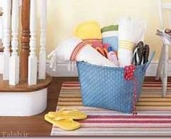 استفاده از سبدهای کوچک در خانه