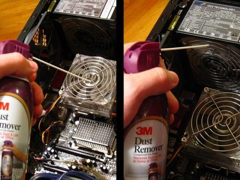 چگونگی تمیز کردن فن کامپیوتر