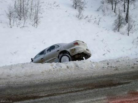 چگونه از سر خوردن خودرو برف و باران جلوگیری کنیم؟