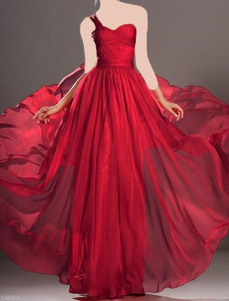 زیباترین مدل های لباس های مجلسی قرمز زنانه