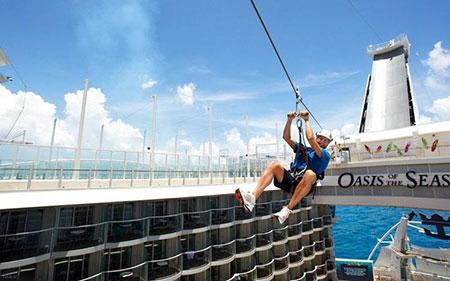 تفریحات فوق العاده هیجان انگیز در کشتی های کروز + عکس