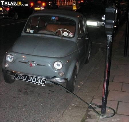 روش های عجیب جلوگیری از سرقت ماشین ( عکس های طنز )