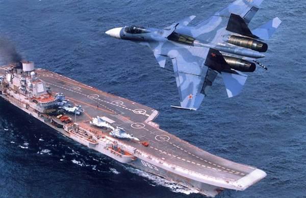 گزارشی از بزرگترین ناو جنگی هواپیمایی در کشور روسیه + عکس