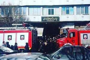 آتش سوزی در پاساژ محمدی تبريز (عکس)