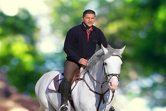 پیام اینستاگرامی علی دایی در هنگام اسب سواری + عکس