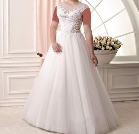 مدل های لباس عروس برای خانم های تپل و چاق
