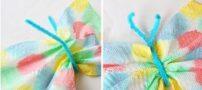 آموزش ساخت پروانه های رنگی