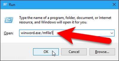 آموزش آخرین فایل باز شده در word