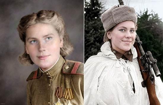رُزا شانینا، تکتیرانداز باهوش، زیبا و سرشناس ارتش سرخ