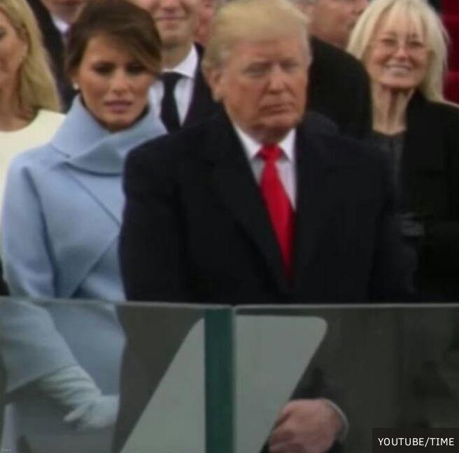 تصویری عجیب از ملانیا ترامپ در مراسم تحلیف دونالد ترامپ