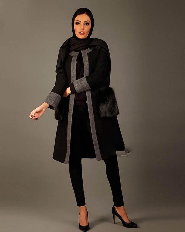 مدل مانتو جذاب و زمستانه طرح waller محصول 2017