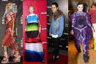 جالب ترین لباس های ستارگان جهان (+ تصاویر)
