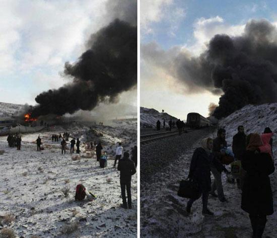 تصاویر و جزئیات برخورد دو قطار در سمنان