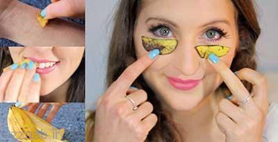 پوست موز صورت را زنده و جذاب میکند | فواید پوست موز برای صورت