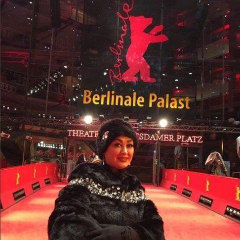 عکس حضور الهام حمیدی در فستیوال زیبای برلین