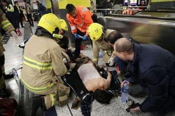 خود سوزی مردی در مترو به همراه 17 نفر (+18)