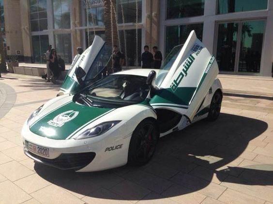 ماشین های گران قیمت پلیس در دبی (عکس)