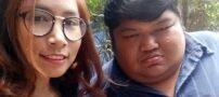 ازدواج پر سر و صدای دختر تایلندی با پسری چاق (عکس)