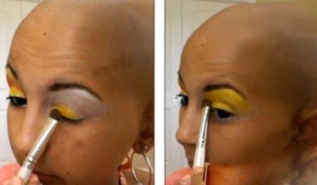 آرایش عجیب و جالب دختر سرطانی