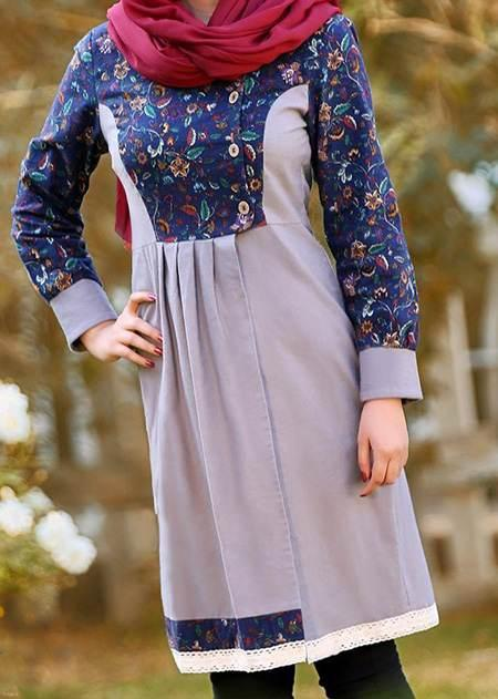 جدیدترین مدل های بهاره مانتو طرح ایرانی 1396