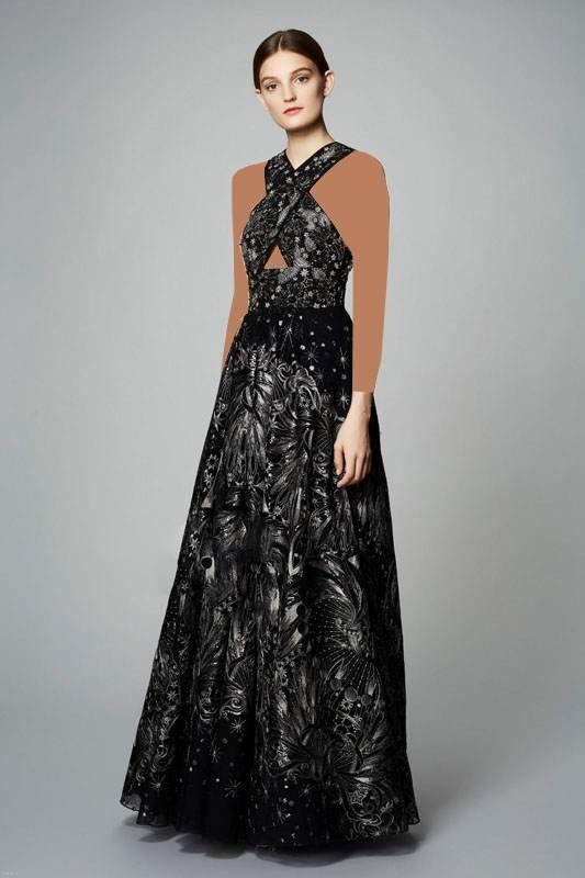 مدل جدید لباس بلند و کوتاه مجلسی در برند Marchesa