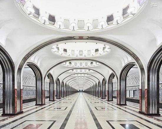 مجلل ترین و زیباترین مترو دنیا در روسیه + عکس