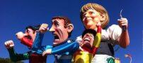فستیوال جالب عروسک های معروف بزرگ در ساحل نیس فرانسه