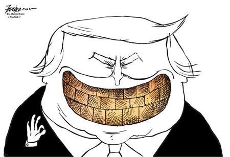 کاریکاتورهای جالب از کارهای روز دونالد ترامپ