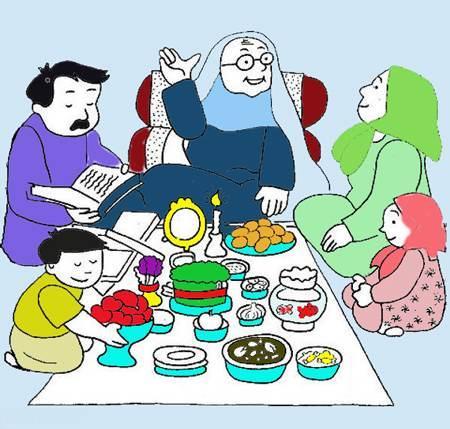هنرهای نقاشی کودکانه سفره هفت سین 1396