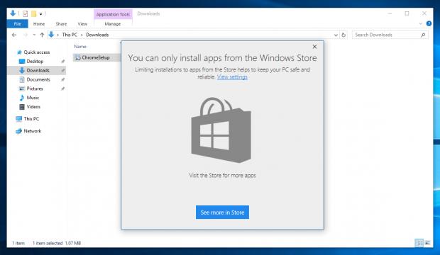 آموزش جلوگیری نصب نشدن نرم افزارها در ویندوز10